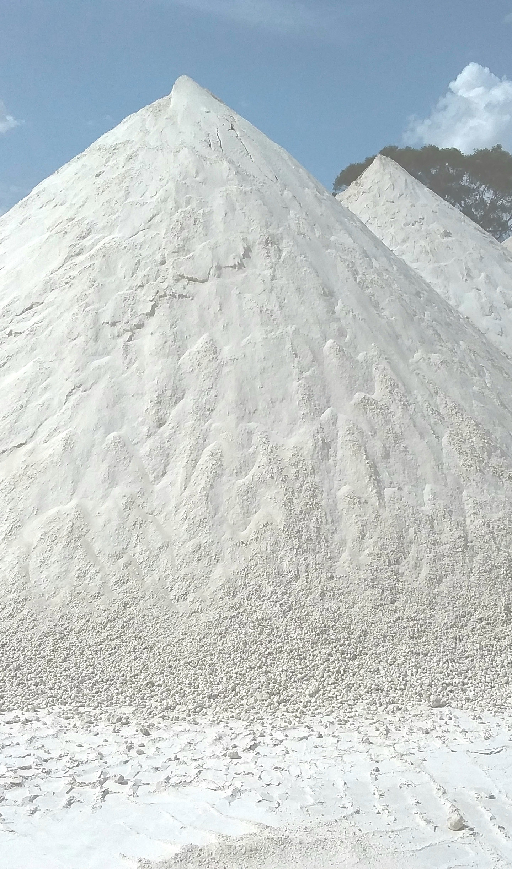 Meningie Gypsum stockpile