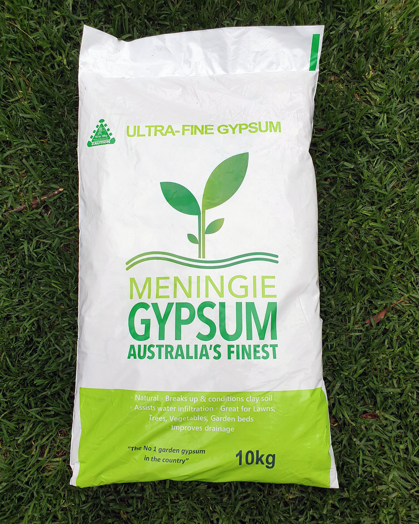 front of Meningie Gypsum bag